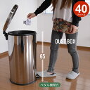 くずかご ゴミ箱 おしゃれ フタ付き ダストボックス 蓋付きゴミ箱 小型 ふた付き おむつ ごみ箱 ペダル式 ラウンド型 42×34.5×65cm 容量40L