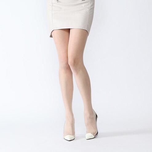 【靴下屋】20デニールシアータイツオフホワイトホワイト白/靴下タビオTabio