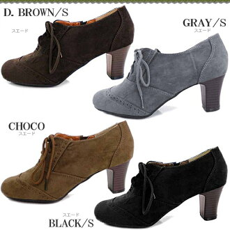 ● Oxford race up booties Lady's pumps [fs3gm] which it is easy to wear with a 6cm heel