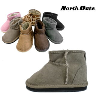 Now North Date ノースデイト キッズムートン boots kids with ME 688 / 689 side-zip boots red kids Sheepskin boots mini performance products-