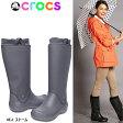 【ポイント最大 16倍】 クロックス レディース 長靴 ロング レインブーツ レインフロー ブーツ crocs wellie rain floe boot w 12424 くろっくす ながぐつ 女性用 boots【OBOB-33prdj】●【楽ギフ_包装】【あす楽対応】