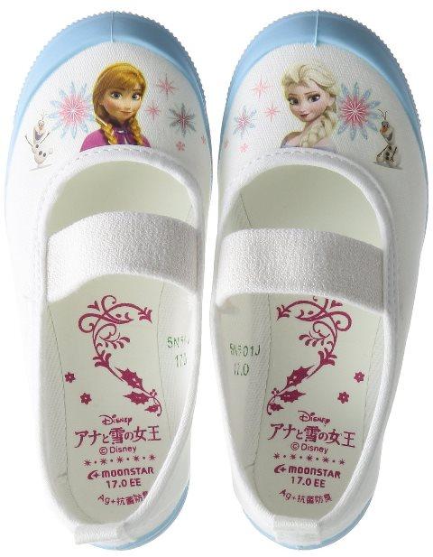 ムーンスター ディズニーアナユキバレー01アナと雪の女王キャラクター うわばきサックス