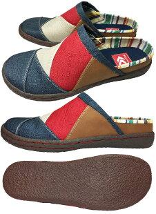 カジュアルサボメンズクロッグサボクロックスニーカーモック40-05/靴靴パワー