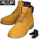 【あす楽】メンズ ブーツ メンズ ワークブーツ マウンテンブーツ カジュアルブーツ イエローブーツ ストリート ブラック イエロー 黒 黄 【BULLET JAM】バレットジャム 4126/靴靴パワー