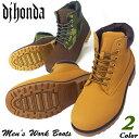 送料無料 あす楽 ブーツ メンズ メンズブーツ イエローブーツ マウンテンブーツ ワークブーツ トレッキングブーツ タウンブーツ アウトドア 7ホール おしゃれ 迷彩 カモフラ B系 ストリート系 靴 Men's Boots/靴靴パワー 24-2