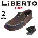 Liberto EDWIN エドウィン サボ メンズ スリッポン クロッグ サボサンダル クロック カジュアル スニーカー モック おしゃれ 秋 冬 靴靴パワー