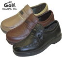 ☆送料無料☆【city Golf】メンズ マドラスシティゴルフ スリッポン 幅広 GF901 4E