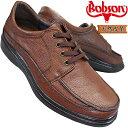 ボブソン B5207 ダークブラウン メンズ カジュアルシューズ ウォーキングシューズ レザースニーカー 革靴 紐靴 ゆったり 本革 Bobson 4E eeee 幅広 ワイド
