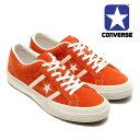 【ヴィンテージ風な仕上がり!】CONVERSE STAR&BARS コンバース スター&バーズ スエード レザー メンズ レディース スニーカー オレンジ/ホワイト ワンスター (32350314)
