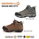 【送料無料】【悪天候でも安心のGORE-TEX仕様!】MERREL MOAB MID GTX  メレル モアブ ミッド ゴアテックス メンズ 紳士用 トレッキング シューズ 靴(M87313/M41413)