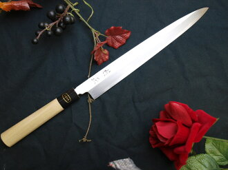Muramasa Japanese knives: sashimi knife 270 mm white paper # 2: this Buffalo pattern