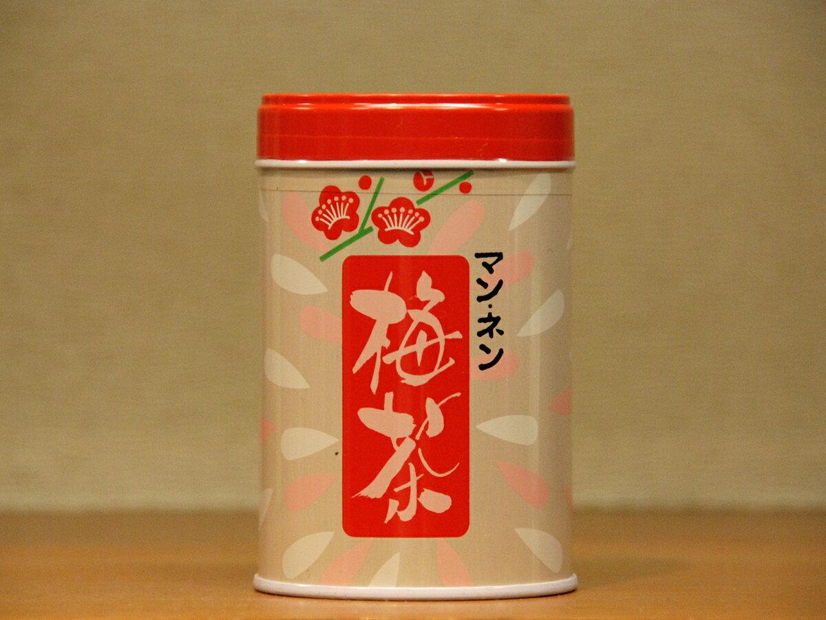 マンネンの梅茶80g缶入り【うめ】