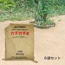 【透水性舗装材 水をかけて固まる土 6袋セット】雑