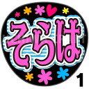【カット済みプリントシール】【STU48/信濃宙花】『そらは』★うちクラ★の手作り応援うちわでスターのファンサをゲット!応援うちわ うちわクラフト 嵐うちわ ジャニーズうちわ AKBうちわ ファンサ コンサート