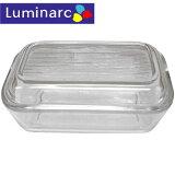 【Luminarc】リュミナルク バターケース ストライプ