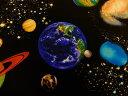 【楽天ランキング入賞商品】USAコットン 生地 布 タイムレストレジャーズ ソーラーシステム C8219Black 入園入学 太陽系 太陽 水星 金星 地球 火星 木星 土星 天王星 海王星(冥王星)商用利用可能