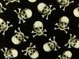 ショッピングスカル メーカー完売 生地 布 USAコットン タイムレストレジャーズ Mini Skulls ミニスカル C2059BK Timeless Treasures ミニドクロ ガイコツ 10P27May16