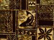 USAコットン 生地 布 ヴィンテージ風ハワイアン柄 ブロック柄 TR13186ブラック サメ シャーク ハワイ 老舗アロハシャツブランド