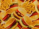 生地 布 USAコットン サイドオブフライ 8344-99 ハンバーガー&フライドポテト オクトーバーフェスト カンヴァス ベナーテックス 商用利用可能