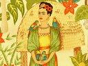 生地 布 USAコットン Frida's Garden 6752Aフリーダ メキシコ 女性 画家 THE ALEXANDER HENRY FABRICS アレキ...