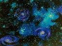 生地 布 USAコットン スターゲイザー SRK14607?231ナイトフォール 宇宙柄 天文学者