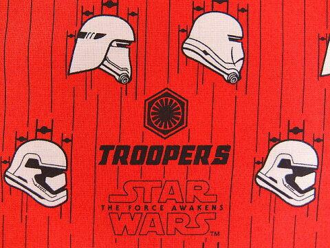 輸入 USAコットン キャラクター生地 布 スターウォーズ フォースの覚醒 正規ライセンス品 7360109−3 ストーム・トルーパーインルビー STAR WARS The Force Awakens 商用利用不可