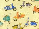 ※現品限り キャラクター生地 布 入園入学 レトロ スクーター AP61501-1A レッスンバッグ 体操着入れ 巾着袋に 商用利用可能