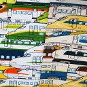 キャラクター オックス生地 布 新幹線・特急電車柄 AP11402−1 でんしゃ大集合 2021年 入園入学 商用利用可能