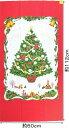 1225C-3A クリスマス パネル柄 生地 布 メリークリスマス クリスマスツリー 1225C-3Aレッド タペストリー 商用利用可能