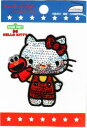メーカー欠品中 キャラクターワッペン アップリケ【セサミ×キティ】刺繍 アイロンワッペンHELLO KITTY・ハローキティ G01I8420