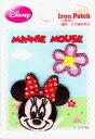 D01I5659 キャラクターワッペン アップリケキャラクター【ミニーマウス】ミニー&フラワーS DO1I5659