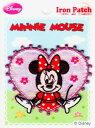 D01I5655 キャラクターワッペン アップリケキャラクター【ミニーマウス】ウィンクハート DO1I5655