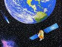 パネル柄生地 布 輸入 USAコットン アウト オブ ディス ワールド 3381-99 アイ ウォント マイ スペース 地球 月 金星 彗星 惑星探査機 カンヴァス ベナーテックス 商用利用可能