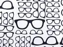 【楽天ランキング入賞商品】USAコットン 生地 ギークリー グラシズ 2868-003 メガネ Geekery glasses RJRファブリックス 商用利用可能