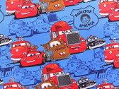 キャラクター生地 布 正規ライセンス品 2017年 USAコットン 入園入学 ディズニー ピクサー カーズ 85070107−1ブルー 商用利用不可