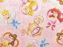 キャラクター生地 布 2017年 入園入学 ディズニー プリンセス GR1050−1A レッスンバッグ 体操着入れ 巾着袋に 商用利用不可