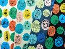 メーカー完売 綿麻キャンバス キャラクター生地 布 ムーミン トーベヤンソン JG54006−1 アーコセット(アルファベット)商用利用不可