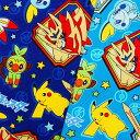 キャラクター生地 布 ポケットモンスター ソード&シールド G6077-1 2020年 入園入学 ポケモン 商用利用不可