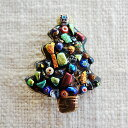 ショッピングクリスマスツリー 七宝焼き ブローチ クリスマスツリー(2)