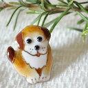 ショッピング犬 【UncleZ】 七宝焼き ピンブローチ かわいい犬(PD-3)