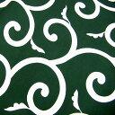 風呂敷(ふろしき)伝統の柄・唐草風呂敷大判(緑・五巾:170×175cm)[唐草模様]