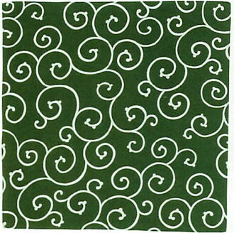 Beijing Arabesque Furoshiki (wrapping cloth) traditional pattern and Arabesque furoshiki ( green & 24 width: 90 × 90 cm ) [Arabesque]