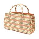 【訳あり】利休バッグ(0222A03) 金襴 縞 文様 和装バッグ