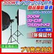 モノブロックストロボ 300Wストロボ商品撮影 人物撮影 フル2灯セット、ソフトボックス付撮影照明・写真撮影用照明機材キットHQSE-300DP■148d