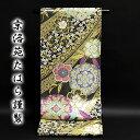 京都西陣織「京洛苑たはら謹製」 長尺 ロングサイズ 振袖に最適 桜柄 豪華な 正絹 袋帯