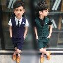 スーツ 男の子 スーツ キッズ 子供 半袖 入学式スーツ 3...
