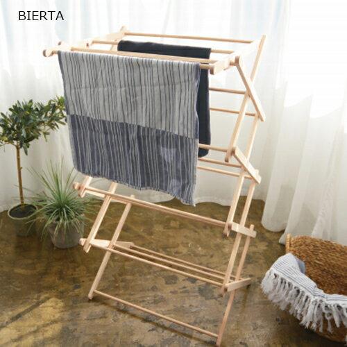 ビエルタ 折りたたみ式タオルハンガー クロスドライヤー M 木製部屋干し 室内干し タオルラック BIERTA