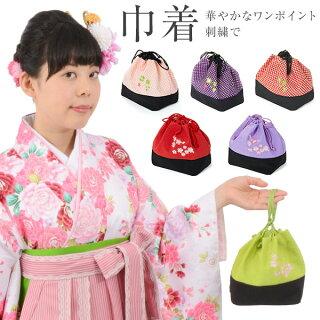 巾着ちりめん桜刺繍【RCP】