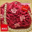 IKKOプロデュース・Princess Style バッグ・ふわふわ感がとってもかわいい!振袖・小紋・おしゃれ着に!【IKKO・パール・大花・バラ・ワイン】【最安値に挑戦】草履バック