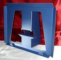 【A4用スタンド収納箱】立てて、飾って、しまえ〜る!青色